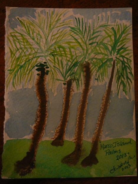 Marco Island Palms Copyright 2013 Lorelei Walsh Park